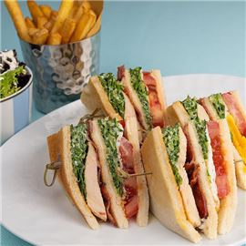 The Gritti Terrace - Longhi club sandwich